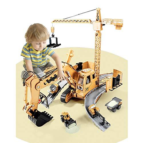 Grote Multifunctionele Engineering Graafmachine Speelgoed Engineering Voertuig Set Legering Kraan Kraan Kind Jongen Super Grote Graafmachine Model