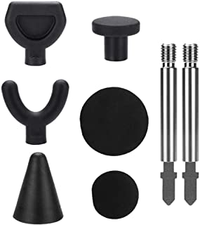 Envisioni Jigsaw Massage Ball Tool Percussion Massager Adapter Tip Accessory Adapter 6 Piece Set with 2 Rods