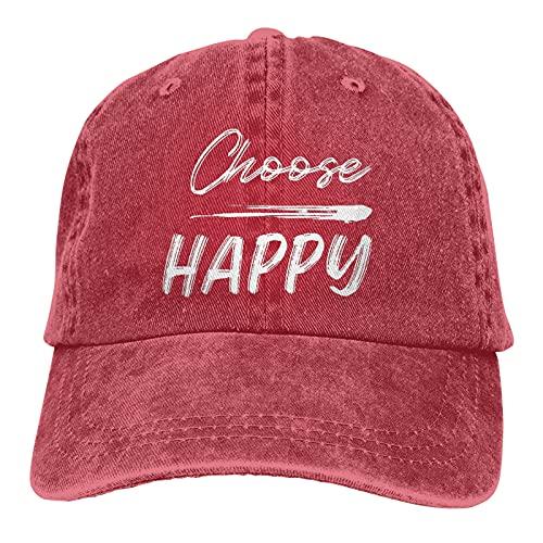 Jopath Choose Happy - Gorra de béisbol unisex de algodón ajustable para camionero