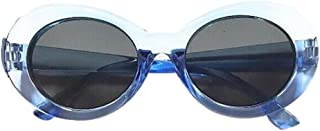 WOCACHI Women Sunglasses Vintage Clout Goggles Unisex Sunglasses Rapper Oval Shades Glasses