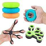 Hand Grip, Finger Strengthener, 6 Pack Hand Exercise Ball and Ring, Fortalecedor de Mano, Hand Grip Strengthener, Hand Strengthener para Artritis Atletas Músicos (6 Packs)