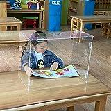 ポータブルで透明な保護くしゃみガード、透明なアクリルプレキシガラスシールド、ダブルフリップ (70cm x 40cm x 30cm),70cm*40cm*30cm