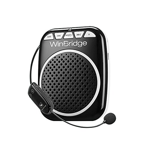WinBridge Wireless Voice Amplifier WB711 Microphone with Speaker Personal PA System Throat Saving 10W Rechargeable Portable for Tour Guide Teachers Coaches Classroom Elderly Etc