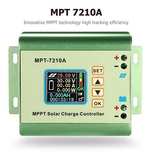 SolaMr MPPT Solarladeregler MPT-7210A Solarpanel-Batterie Regler mit LCD-Farbdisplay für 24V/36V/48V/60V/72V Batteriesysteme