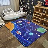 ZXW Alfombra- Alfombra de Dibujos Animados Redondos Dormitorio Sala de Estar Mesa de café Manta Juego de alfombras de los niños Alfombra de rastreo, 5 Estilos, 5 tamaños Disponibles