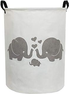 ESSME Laundry Hamper,Collapsible Canvas Waterproof Storage Bin for Kids, Nursery Hamper,Gift Baskets,Home Organizer