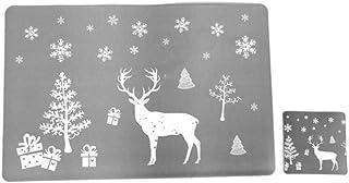 JIAYAN Set de Table de Noël Set de Table d'hiver pour Salle à Manger de Cuisine Décorations de Maison de Vacances 6 Sets d...