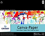Canson 100510843 Foundation Series Canva-Paper Pad Primed for Oil or Acrylic Paints, Top Bound, 136 Pound, 16 x 20 Inch, 10 Sheets, 16' x 20', 0