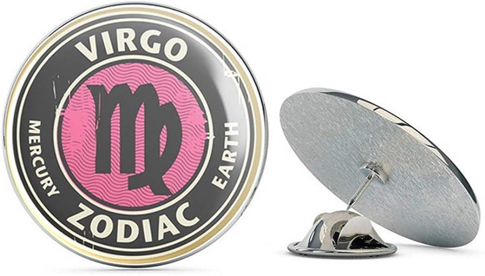 Virgo Star Sign Round Metal 0.75