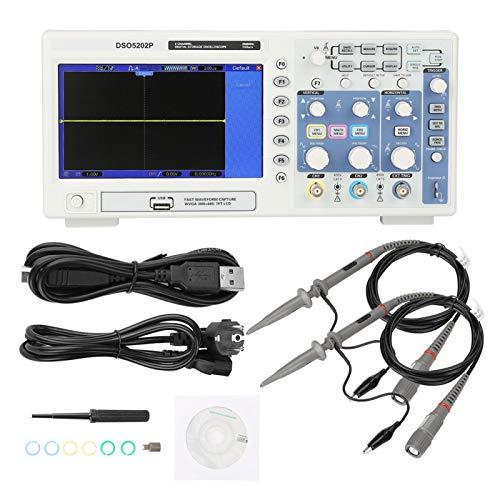 Osciloscopio digital LCD de 7 pulgadas, 200 MHz, 2 canales, osciloscopio industrial con pantalla grande y clara