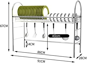 Kitchen Storage Rack Sink Single Layer Dish   304 Stainless Steel Tableware Drying Rack - Size Optional for Kitchen, Storage