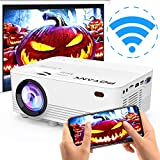 [2020 Upgrade WiFi Projector] POYANK 4500Lux LED WiFi Projector for Halloween Decor, Full HD 1080P Supported Mini Projector Compatible with Smartphones/PS4/TV Box/HDMI/USB/AV for Halloween Movies