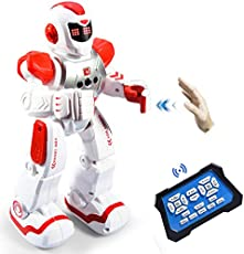 Zosam Remote Control Robots, Programmable Remote Control Robots, Intelligent Robot Toys, Birthday Gifts for Boys and Girls (red)
