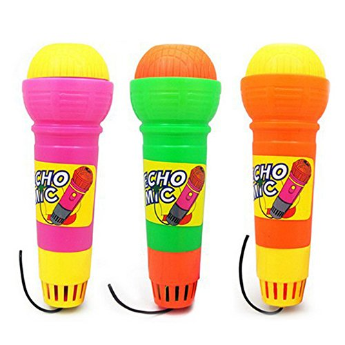Isuper Echo Mikrofon, 2er Pack Kinder Mikrofon Spielzeug Neuheit Handmikrofon Musik Spielzeug für Party, Kindergarten, usw.