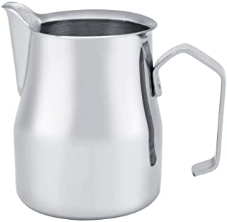 Milk Frothing Jug, Stainless Steel Coffee Jug Milk Frothing Pot Espresso Latte Art Style Pitcher Office Utensil Milk Froth...