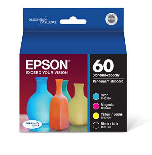 Epson T060120-BCS DURABrite Ultra Black & Color Combo Pack Standard Capacity Cartridge Ink
