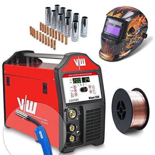 Equipo de soldadura profesional Mig Mag con 200 Amp – Dispositivo de soldadura de electrodos IGBT – Combi Mig Mag de gas de protección – Dispositivo de soldadura