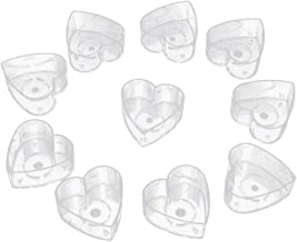 Prettyia 10pcs Party Accessory Heart Clear Plastic Votive Wedding Candle Holder Tealight Candles Cups