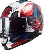 LS2 103973832M Casco Moto Full Face FF397 Vector FT2 Automat, Unisex, Bianco/Rosso, M