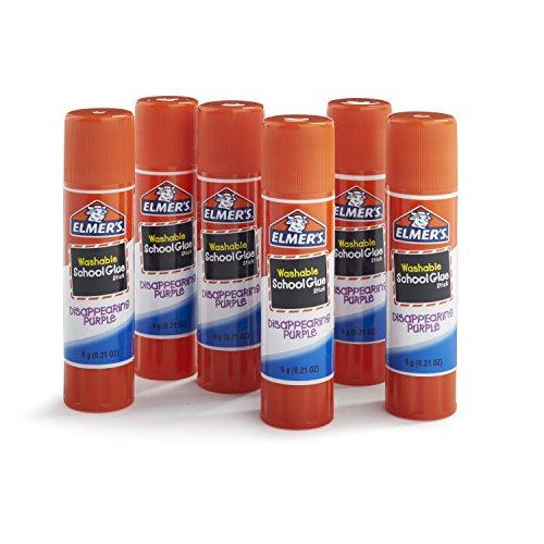 Elmer\'s Disappearing Purple School Glue Sticks, 0.21 oz, Pack of 6 (E1560) by Elmer\'s