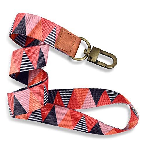 Supgear Schlüsselband Umhängeband Zweiseitiger Druck in Vollfarbe mit Abtrennbarer Clip Ideal für Handy/Schlüssel/Arbeitskarte/ID-Karten (Gitter)