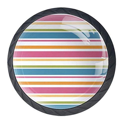 LORVIE Schubladenknauf, Seestern und Muscheln, Kristallglas, kreisförmig, für Schrank, Schublade, Schrank mit Schrauben, 4 Stück Multi#007