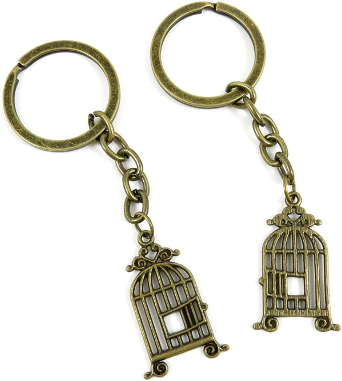 170 Pieces Fashion Jewelry Keyring Keychain Door Car Key Tag Ring Chain Supplier Supply Wholesale Bulk Lots V3PR2 Bird Cage Birdcage