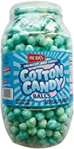 Herr's Cotton Candy Balls 18 Oz Large Barrels! Flavored Sweet And Crunchy Corn Snack! Gluten Free Great Summertime Snack!!