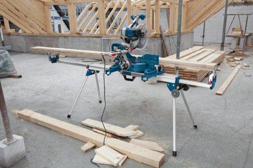 Bosch Professional Arbeitstisch für Kapp- und Gehrungssägen GTA 3800 (inkl. Maschinenhalter, Schraubschlüssel, Werkstückauflagen) - 6