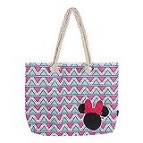 Cerdá, Bolso de playa de Minnie Mouse-100% Algodon Unisex niños, Rosa, 52 cm