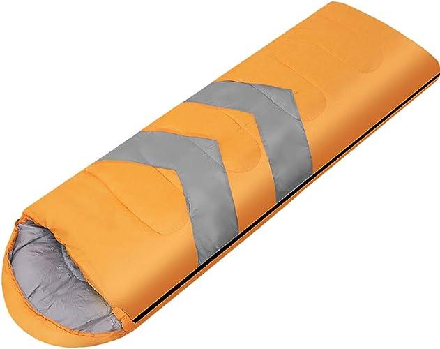 WXL Sac de Couchage Adulte Camping en Plein air Portable Simple Double Voyage Artefact,jaune-1.6kg