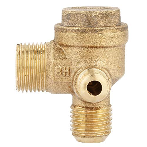 Male Thread 90 Degree Brass Air Compressor Check Valve Spare Parts 20 * 14 * 10mm for Central Pneumatic Air Compressor