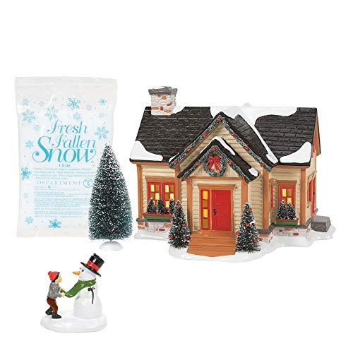 Department 56 Original Snow Village Building Christmas Cheer Holiday Set of 4, Multicolor