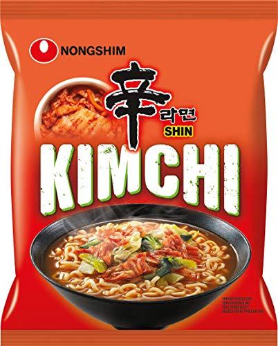 Nong Shim Instantnudeln Kimchi Ramyun – Koreanische Ramen Suppe (schnelle Zubereitung) 6er Vorteilspack à 120g