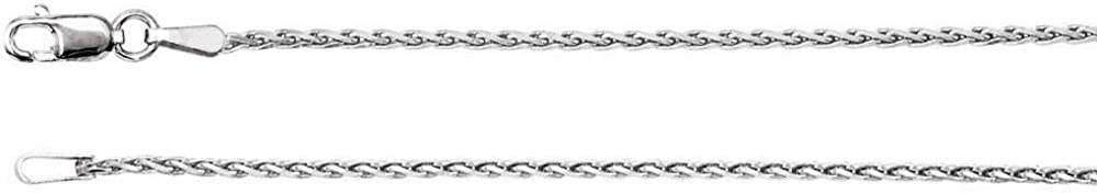 10k White Gold 1mm Diamond Wheat Necklace Chain Industry No. 1 16