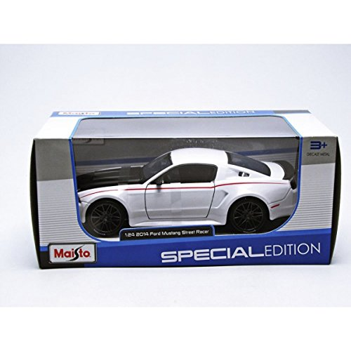 Maisto Ford Mustang Street Racer, Colore: Bianco, 31506W