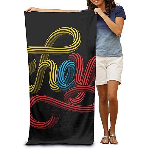 utong Toallas de Playa 100% algodón 80x130cm Toalla de Secado rápido para Nadadores Hey Beach Blanket