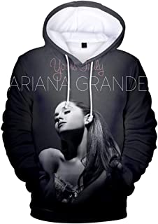 Fashion 3D Hoodies Printed Funny Ariana Singer Grande Hoodie Pullover Graphic Sweatshirts Hooded with Big Pockets