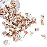 NBEADS Cerca de 100 cuentas de concha, cuentas de concha de mar, dijes de concha de mar para hacer collares, pulseras y pendientes