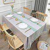 sans_marque Paño de mesa, puede limpiar el mantel de mesa, limpiar la cubierta protectora impermeable de la mesa, se utiliza para la cocina picnic al aire libre interior140 x 220 cm
