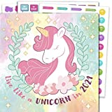 2021 Unicorn Wall Calendar and Stickers - 12 x 12' Kids Calendar Includes Inspirational Quotes and 308...