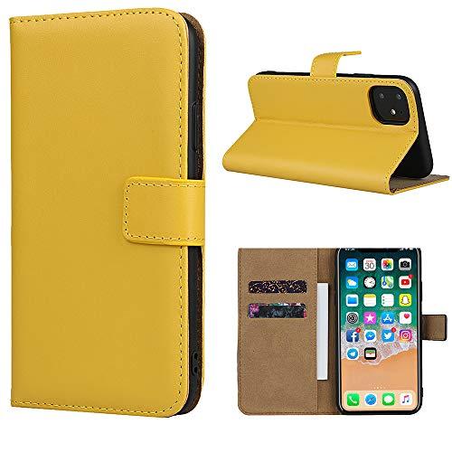 Étui en cuir Smart Fit Sport pour iPhone - Étui portefeuille en cuir SFS pour iPhone X/XS 4/4S 5/5S 5C 6/6s 6 Plus 7/8 7 Plus/8 Plus 8 Plus, cuir, jaune, Pour iPhone 4/4S