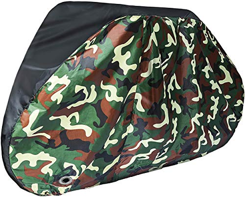 Puroma Bike Cover, 210D Outdoor Waterproof Bicycle Covers Rain Sun UV Dust Wind Proof with Lock Hole, Ideal for Mountain Road Electric Bike, XL (Camouflage)