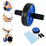 NA. Abdominal Exercise Ab Roller Wheel with Thick Knee Pad Ideal for Body