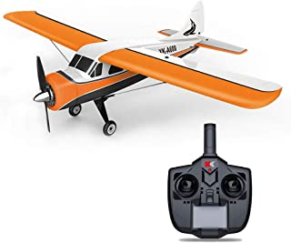 ASfairy-Toy XK DHC-2 A600 4CH 2.4G 3D/6G 6G Leveling Mode 3D Stunt Mode Brushless Motor RC Airplane 6 Axis Foam Glider Remote Control Plane with Remote Controller Best Gift to Teens