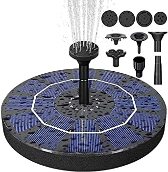 Biling 2.5W Solar Fountain Pump with 800 mAh Battery Backup
