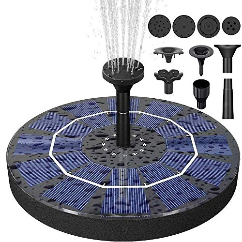 Biling Solar Bird Bath Fountain Pump, 2.5W Solar Fountain Pump with 800 mAh...