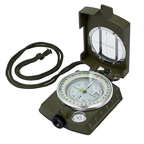 Proster Militär Marschkompass Professioneller Taschenkompass Peilkompass Kompass Compass mit Klinometer Tragschlaufe Tasche für Jagd Wandern und Aktivitäten im Freien …