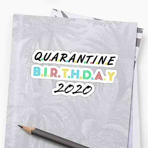 quarantine birthday, its my birthday in quarantine 2020 Sticker (3 Pcs/Pack) Perfect for Water Bottle, Laptop Phone