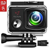 Victure Action Cam 4K 20MP WiFi Touch Screen Ultra Full HD 30 Meters Unterwasserkamera Einstellbare...